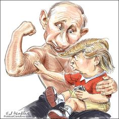 116 Of The Most Brutal Memes Trolling Trump After His 'Disgraceful Performance' When Meeting Putin Political Memes, Political Cartoons, Politics, Political Junkie, Putin Trump, Donald Trump Funny, Trump Cartoons, Funny Caricatures, Satire