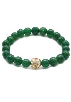 Green Onyx Bezel Ball Bracelet at osterjewelers.com
