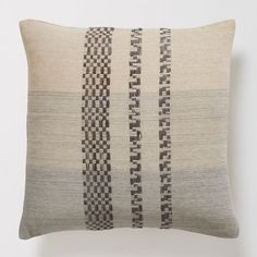 Checkered Stripe Pillow Cover