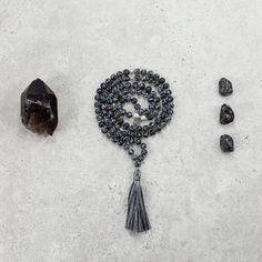 Snowflake Obsidian Mala - Protected & Restored