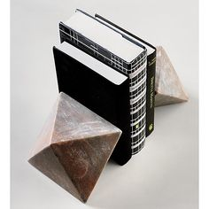 pink marble bookend | CB2