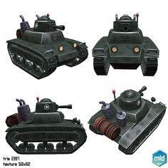 Low Poly Cartoon Small Tank