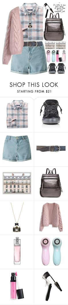 """""""My decision"""" by grozdana-v ❤ liked on Polyvore featuring GANT, Golden Goose, Miss Selfridge, Betsey Johnson, Chicwish, Christian Dior, Laura Geller, Lancôme and plaidshirt"""