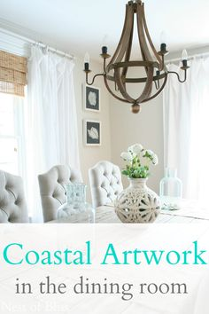 Coastal Artwork in the Dining Room