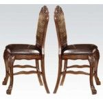 Acme Furniture - Dresden Counter Height Dining Chair in Oak Cherry (Set of 2) - 12162