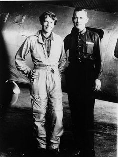 Famed aviator Amelia Earhart and her navigator, Fred Noonan, pose in front of their twin-engine Lockheed Electra in Los Angeles at the end of May 1937, prior to their historic flight in which Earhart was attempting to become first female pilot to circle the globe. A clear plastic shard found on Nikumaroro island matches the thickness and curvature of the Lockheed Electra windows.