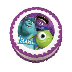 Disney - Pixar Monsters University Scarers Mike Sully Art EDIBLE Image Cake Cupcake Topper Personalized LICENSED