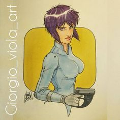 A quick #ghostintheshell #motokokusanagi illustration this one will be a gift (most likely one of many more) for the one and only @giuliart_miniatures  Done in pencil #ink and #copic markers on regular paper. Hope you like it #onesketchaday #sketches #sketch #art #artist #artoninstagram #sketcheveryday #handdrawn #pencil #new #originalart #scribble #draw #drawing #drawings #illustration #illustrations #instadaily #photooftheday #doodle #moleskine #follow #iloveart #dailydrawing #digital…
