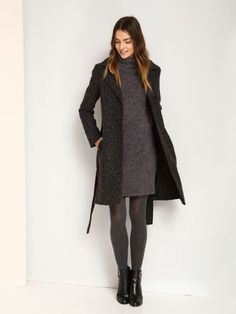 sukienka damska  granatowa - TSU0555 TROLL Troll, Sweaters, Dresses, Fashion, Tunic, Vestidos, Moda, Fashion Styles, Sweater