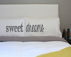 Sweet Dreams Pillow Couples Pillow His Hers Pillow by OSusannahs