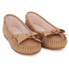 Chloe Tan Leather Moccasins