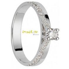bague de mariage et fiançaille en or blanc diamant Rhônes alpes Lyon Insolite