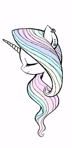 Imagen de unicorn, wallpaper, and cute Unicorn Drawing, Unicorn Art, Cute Unicorn, Rainbow Unicorn, Unicorn Painting, Beautiful Unicorn, Unicorn Nails, How To Draw Unicorn, Magical Unicorn