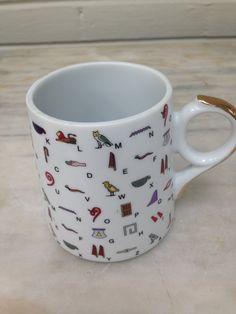FATHI MAHMOUD  porcelain vintage mug made in EGYPT by MotherMuse on Etsy