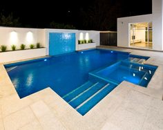 Indoor Swimming Pool Ideas - You want to build a Indoor swimming pool? Here are some Indoor Swimming Pool designs and ideas for you. Indoor Pools, Small Backyard Pools, Backyard Pool Landscaping, Backyard Pool Designs, Swimming Pools Backyard, Swimming Pool Designs, Modern Backyard, Indoor Outdoor, Pool Decks