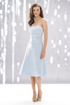 Glamorous sleeveless A-line bridesmaid dress