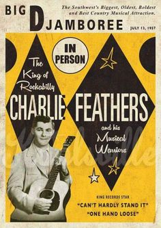 Charlie Feathers, 1957 concert poster