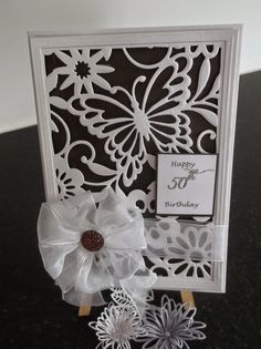 """Summerhouse Crafts: """"Happy Birthday Card"""" Happy Birthday Cards, Flower Making, Hugs, I Card, Handmade Cards, Butterflies, Card Ideas, Give It To Me, Frames"""