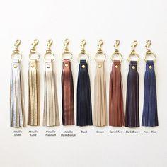 Leather Tassel KEYRING Keychain Tassel Purse Charm Leather