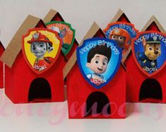 Paw Patrol Party Favors Dog House - set of 14