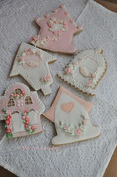 Spring Bird Houses Cookies