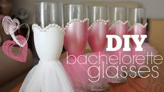 DIY Bachelorette Glasses..WE CAN DO THIS!!!