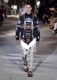 JC Model Darren, on the runway at Paris Fashion Week!  #Givenchy