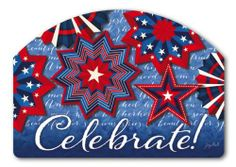 """Celebrate America Yard Design by MagnetWorks. $15.99. Magnetic address sign measures 14"""" x 10"""".. Address plaques snap into place onto our Yard Stake.. Or display as hanging address sign using our Ornamental Address Post.. Yard Designs are vinyl coated for long lasting beauty.. CELEBRATE AMERICA From Magnet Works Yard DeSigns®Use this interchangeable 14 in. x 10 in. screen-printed magnet with our Metal Yard DeSigns Ornamental Post or Yard Stake (each sold sepa..."""