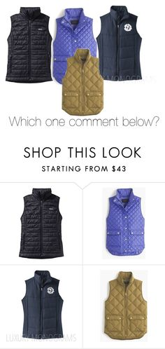 """Which one I'm gonna buy one so comment below!"" by sarahs2734 ❤ liked on Polyvore featuring Patagonia, J.Crew, women's clothing, women, female, woman, misses and juniors"