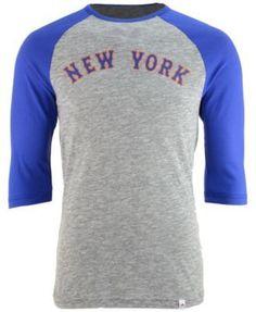 Majestic Men's Darryl Strawberry New York Mets Coop Player Entry Raglan T-Shirt - Gray XXL