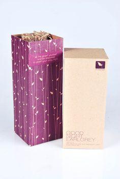 Natural Packaging for Tea by Riska Tiofani, via Behance