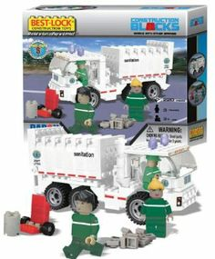 Best Lock NYC Sanitation 220 Pc Garbage Truck Construction Toy by Best Lock. $27.25. This is a cool building block set from Best Lock that you can use to build a New York City Sanitation garbage truck. Best Lock blocks are compatible with other major building block manufacturers.