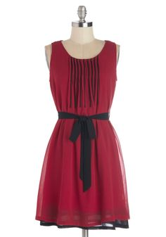 Do Re Meeting Dress in Red. After deciding to wear this winsome red dress to your interview today, your confidence swells. #red #modcloth