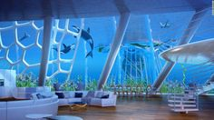 As well as living space, the Aequorea would house science labs, office space, hotels, sports fields, and farms across 250 floors and reach a depth of up to 1000 meters.