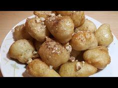 Πανεύκολοι λουκουμάδες με μελι!! - YouTube Pretzel Bites, Soul Food, Donuts, Potatoes, Bread, Vegetables, Youtube, Desserts, Recipes