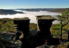 Tea Table Rocks - Northwest Arkansas