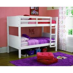 your zone zzz place to be twin over twin bunk bed, Multiple Finishes - Walmart.com