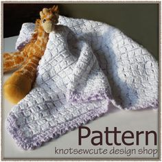 Soft Squares Baby Blanket - Crochet Pattern. $3.99, via Etsy.