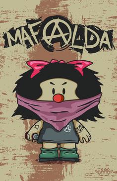 Mafalda Vandal Ilustración By: Crab