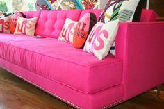 #Decoração pink, #Como decorar com rosa#Tendência para o verão# Mais Moda#Sofás pink#