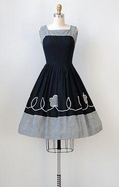 vintage 1950s dress / vintage 50s dress / black by adoredvintage, $148.00