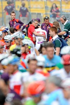 Fabian Cancellara after crashing and losing the 2012 Mens Olympic Road Race