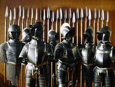 Lessingimages.com - A row of cavalry and footman's arms and armour.