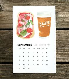 For the person with clear priorities: a calendar that showcases a monthly pairing of beer and food.