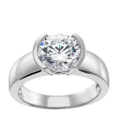 Mahina - Check out this lighter, slimmer variation of our popular Luna engagement ring with a gorgeous lab-created stone! Its low profile bezel setting is perfect for active lifestyles, and romantics will love its smooth simplicity and moonlike shape as well at an affordable price!
