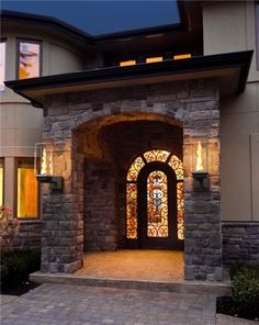 A beautiful way to create outdoor light.