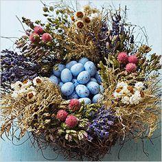 Nest centrepiece for Easter