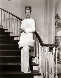#Edith Head ~wasn't just a wardrobe stylist she was the seed to fashion industry.    ted  design for Tippi Hedren, Marnie