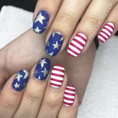 "218 Likes, 4 Comments - Liz Henson (@nails.byliz) on Instagram: ""Red, white & blue ❤️❤️ . . . . #nails #gelnails #gelpolish #naturalnails #nailstagram #summer…"""