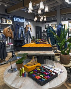 Timberland are cementing their position as an outdoor lifestyle label with a new concept designed by Dalziel and Pow in the brand's Regent Street flagship store.